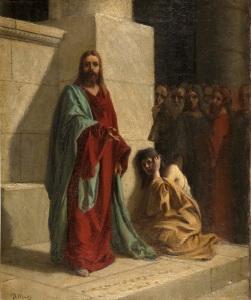 Cristo_y_la_mujer_adúltera,_de_Domenico_Morelli_(Museo_del_Prado)