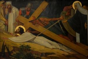 Ljouwert,_Bonifatiustsjerke_-_Via_Crucis_IX_-_Jezus_falt_foar_de_tredde_kear