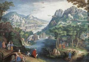 Gillis_van_Coninxloo_-_Mountain_Landscape_with_River_Valley_and_the_Prophet_Hosea_-_WGA05181