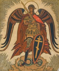 S._Michael_by_I.Bilibin_(1919-20,_priv.coll)